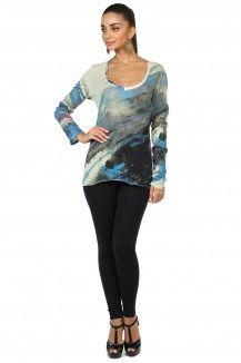 Highlighted Blue Prints Multicolored Top  Rs. 1,745