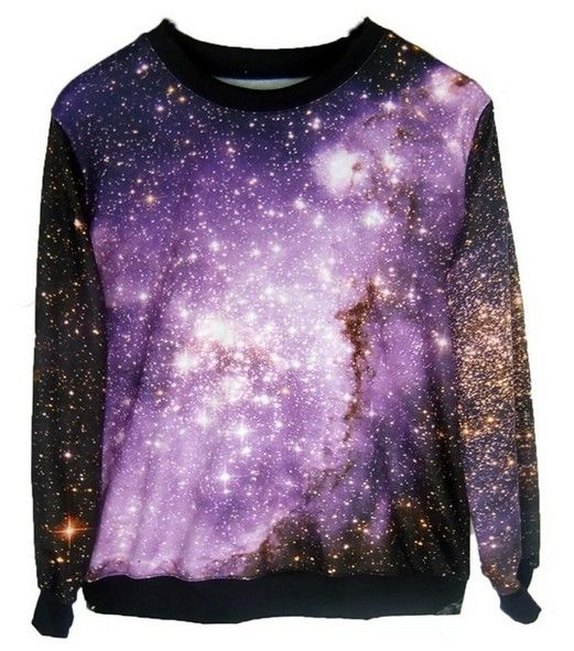 galaxies sweater jumper Stars fall winter women's fashion
