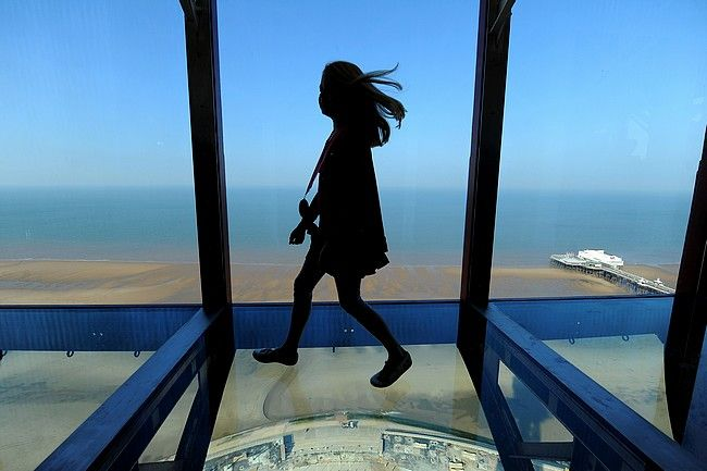 Up Blackpool Tower