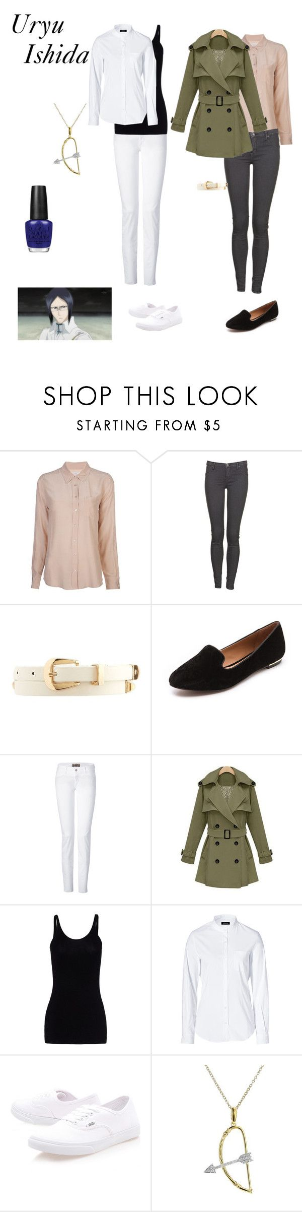 """Uryū Ishida"" by pumpkinpanda324 ❤ liked on Polyvore featuring Equipment, Dr. Denim, Charlotte Russe, Rachel Zoe, Closed, T By Alexander Wang, Steffen Schraut, Vans, India Hicks and OPI"