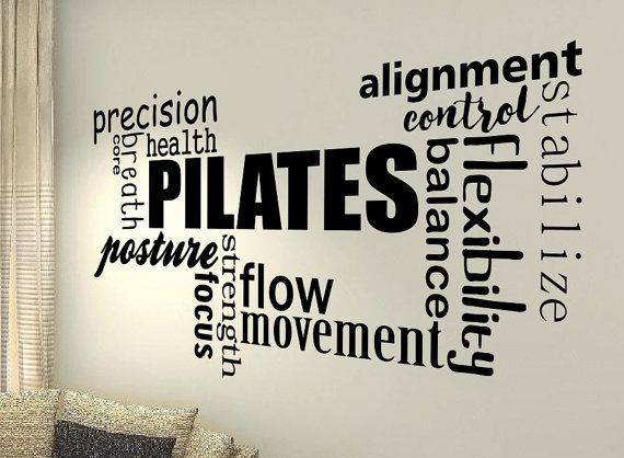 Pilates Huge XXL Motivational Wall Quote by Stickersshopthree