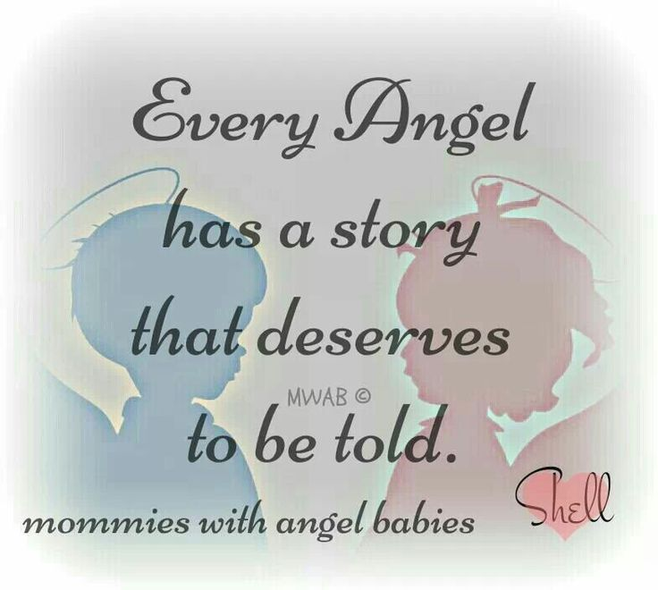 Even the smallest of angels has a story that deserves to be told...and heard
