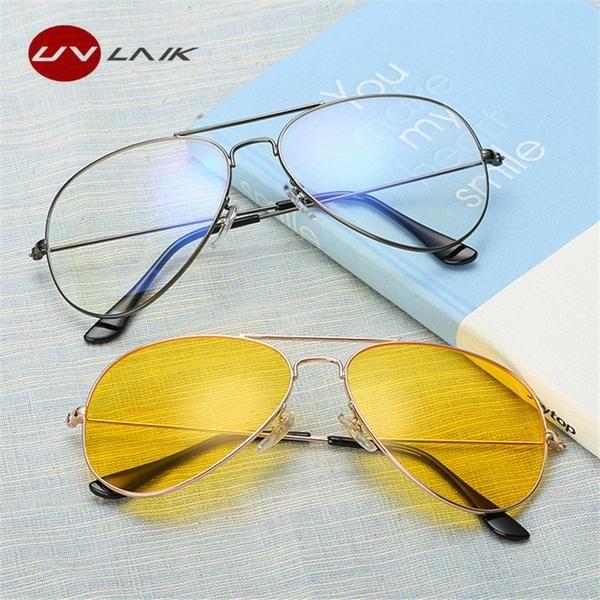 93f91a9c4a7  FASHION  NEW UVLAIK Men Night Vision Goggles Sunglasses Women Transparent  Glasses Frame Car Drivers Driving Anti-Glare Yellow Sun glasses