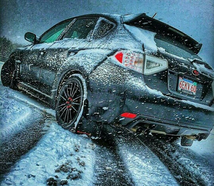 Subaru STI doing what it does best