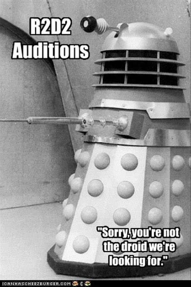 Nice! Star Wars/Doctor Who humor mash up! Two of my favorite things!