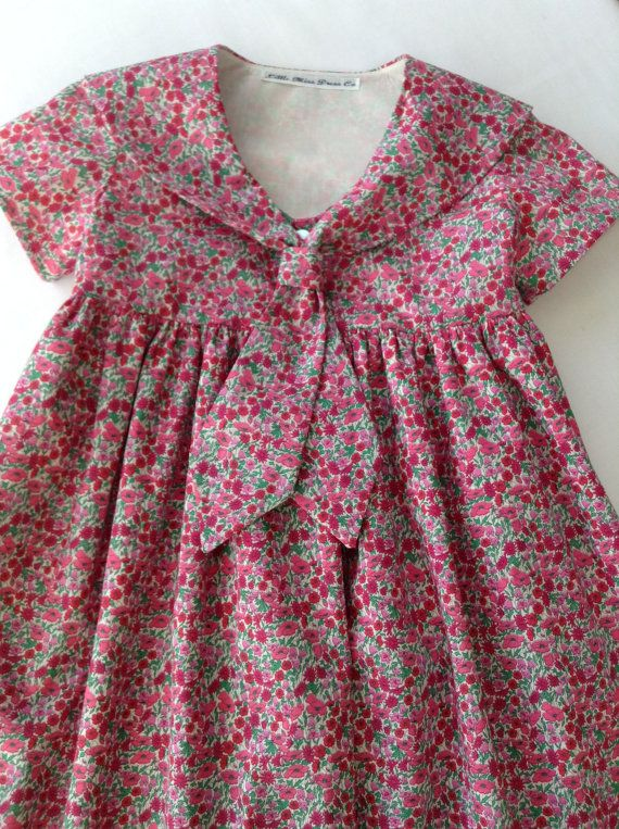 Sweet little sailor dress made of Liberty of London lawn! Find Liberty lawn at www.farmhousefabrics.com