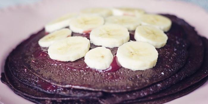 Chocolade pannenkoeken met banaan (glutenvrij, suikervrij, zuivelvrij)