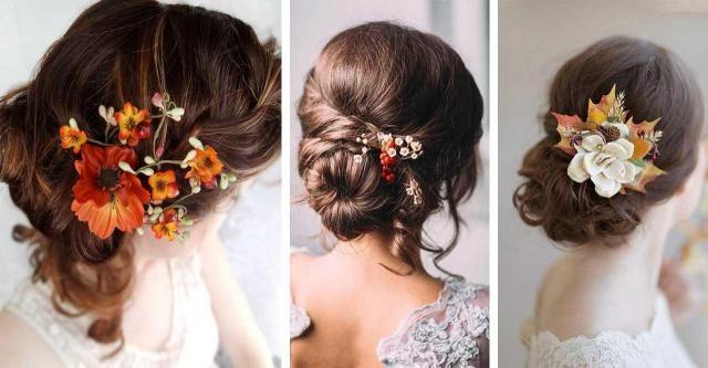 11 pomysłów na nieziemskie fryzury ślubne. Motyw jesieni!