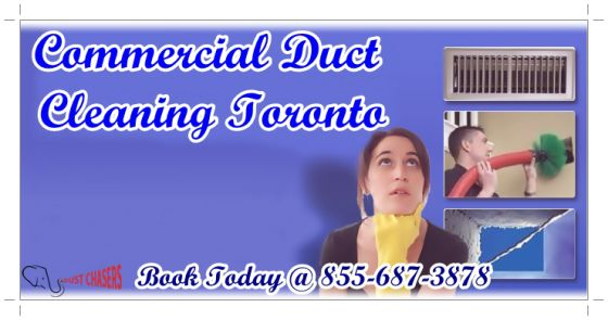 If you are looking for the best Commercial Duct Cleaning services in Toronto, then contact us. We are Dust Chasers and have highly experienced team workers, who can provide you a healthy environment.Contact us by dialing 1-855-687-3878.