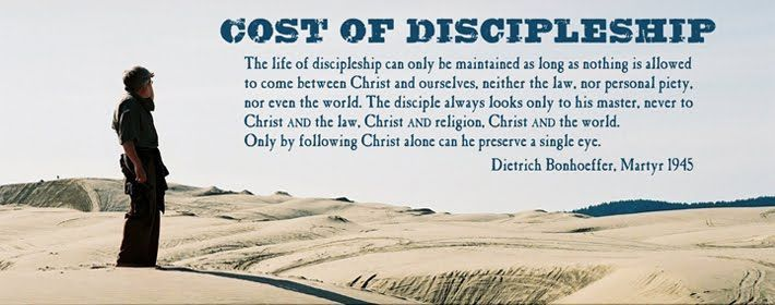 the bigger picture of discipleship in the book the cost of discipleship by dietrich bonhoeffer What's the big deal tag archives: the cost of discipleship in the history of the church, the book the cost of discipleship by the german theologian dietrich bonhoeffer.