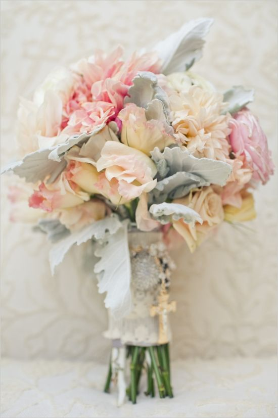 soft pastel bouquet http://www.weddingchicks.com/2013/12/02/mccormick-home-ranch-wedding-3/
