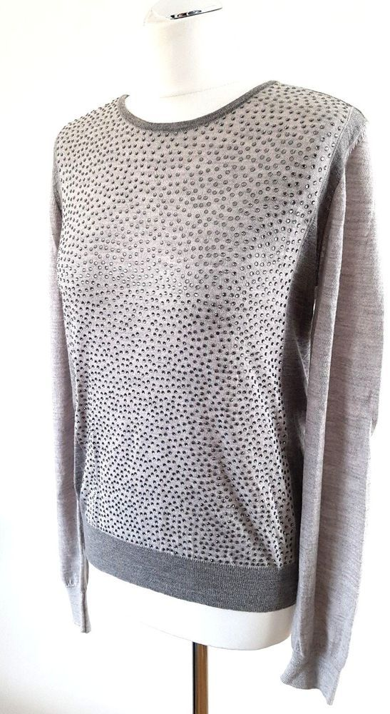 By Malene Birger Womens SUNNIA Grey Embellished Jumper M 12 14 UK RRP 172  Party  fashion  clothing  shoes  accessories  womensclothing  sweaters  (ebay link) c7ef15cff