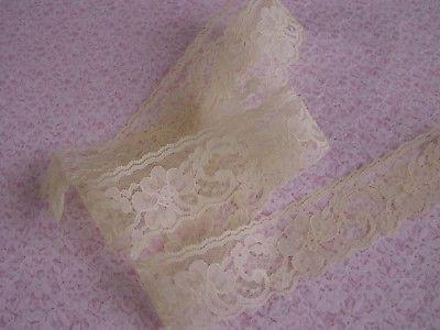Maize-Yellow-Flat-Lace-Trim-10-YARDS-Raschel-Lace-Apparel-Lingerie-Invitations