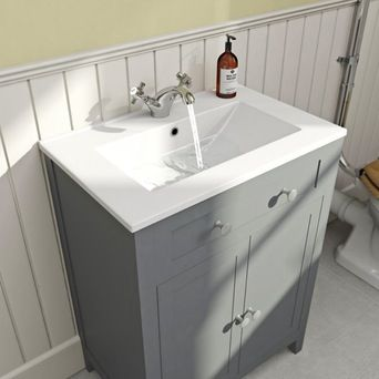 Camberley grey bathroom furniture | VictoriaPlum.com