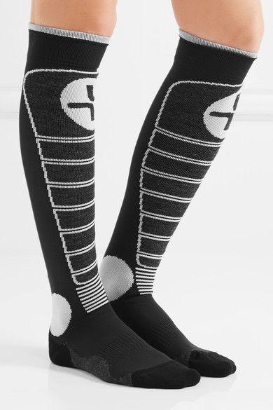 Lacroix - Trace Stretch-knit Ski Socks - Black - EU 39-41