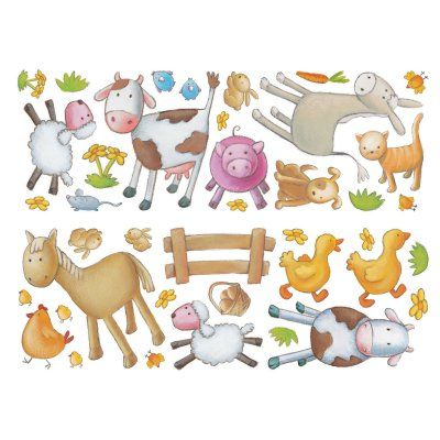 Fun4Walls Farm Wall Stickers - Set of 80 - TSAFARMDEC