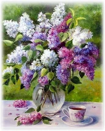 how to paint lilacs in watercolor ile ilgili görsel sonucu