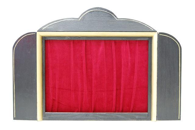 Theaterkastje voor kamishibai (papierdrama)