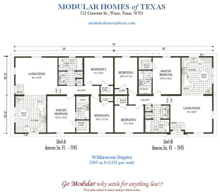 Duplex Mobile Home Floor Plans Modular Duplex Plans