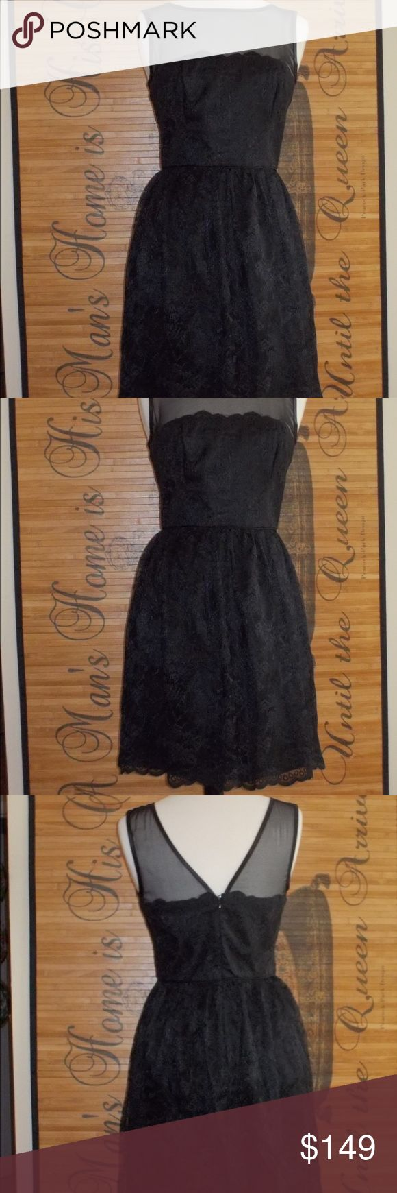 Trina Turk black lace dress Made in California 100% Polyester contrast 1: 100% silk contrast 2: 100% silk Lining: 100% Acetate Trina Turk Dresses Midi