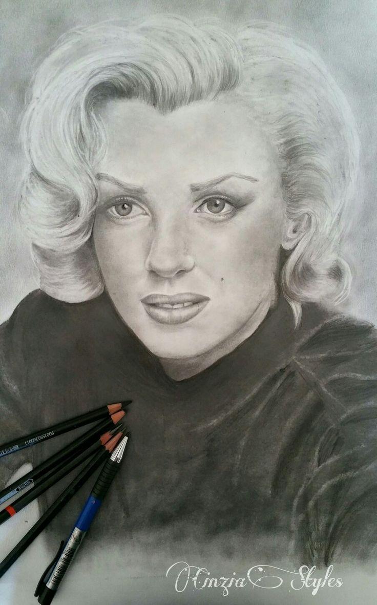 Marylin Monroe  disegno a matita.