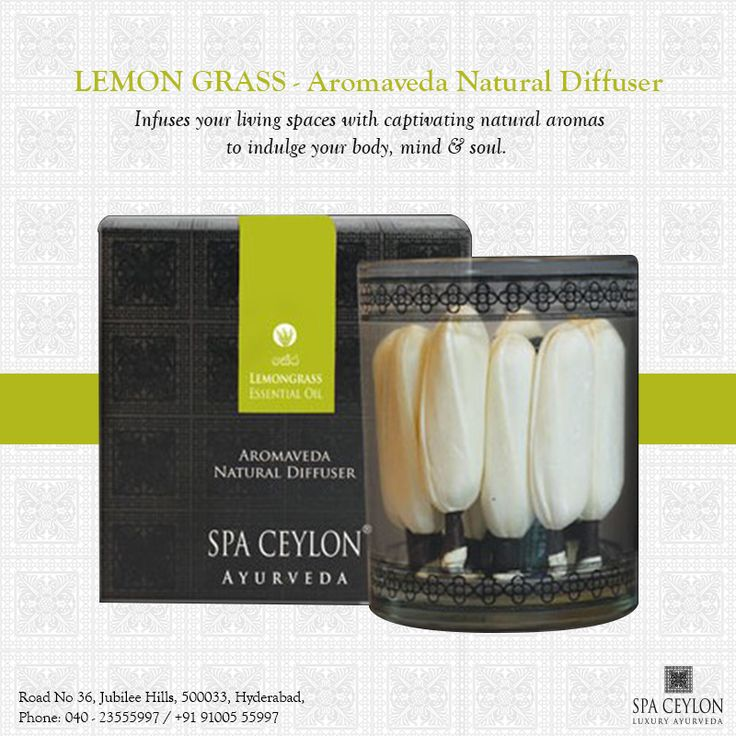 #Lemongrass – #Aromaveda #Natural Diffuser is the unadulterated combination of natural #herbs and #essential #oils which permeates ecological #fragrance thereby #soothing your #spirit, #senses and #body as well. Grab one home to define natural ambience. #SpaCeylon #hyderabad #beauty #BeautyProduct #spa #relax