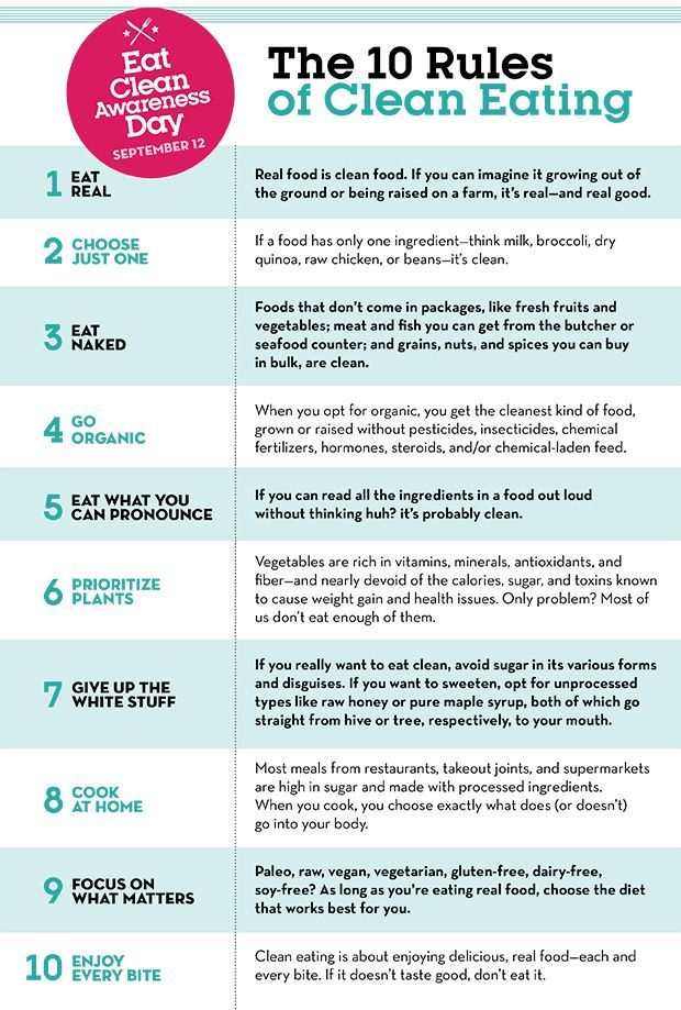 10 rules of clean eating infographic