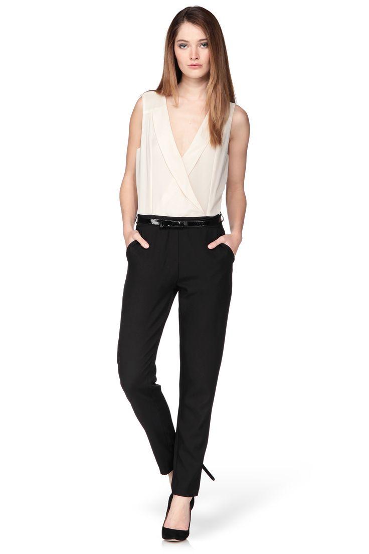 combi pantalon bicolore emilia noir molly bracken sur american vintage molly. Black Bedroom Furniture Sets. Home Design Ideas