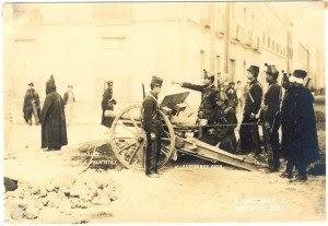 H. J. Gutiérrez (fechas desconocidas) fue uno de los muchos fotógrafos de la ciudad de México cuyas fotografías de la revolución pronto alcanzaron una amplia difusión entre la población en forma de tarjetas postales.