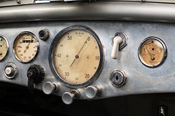 1937 BMW 328 Mille Miglia Dash Detail.  Not a motorcycle but a great vintage inspiration.