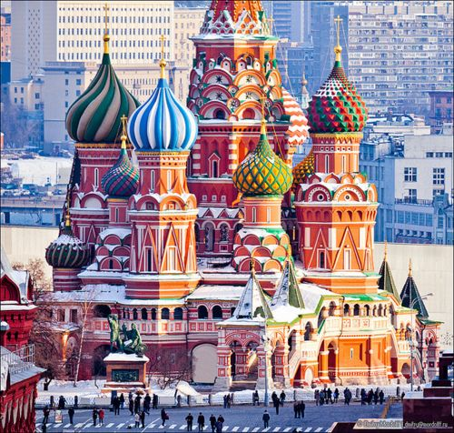 Saint Basil's Cathedral, Moscow, Russia.  The Ultimate Dream, being part Russian.