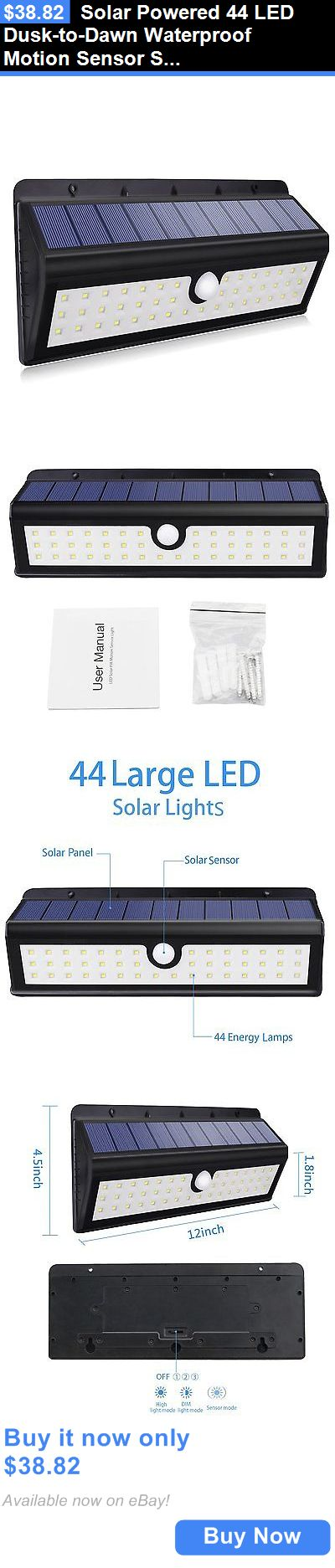 farm and garden: Solar Powered 44 Led Dusk-To-Dawn Waterproof Motion Sensor Security Flood Light BUY IT NOW ONLY: $38.82