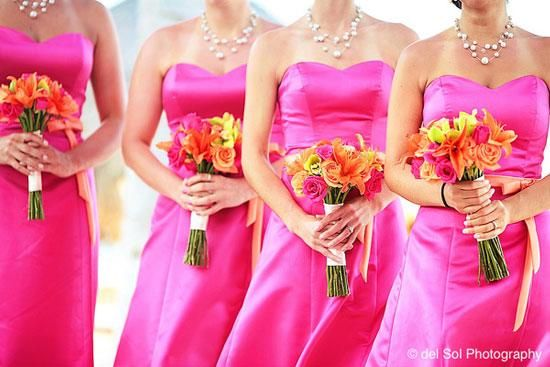 bridesmaid-robe-fushia