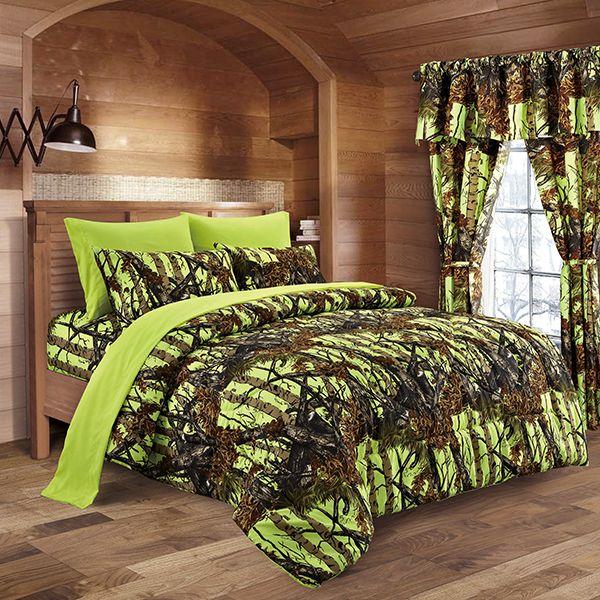 The Woods Lime Green Comforter - Super soft microfiber. Reversible.