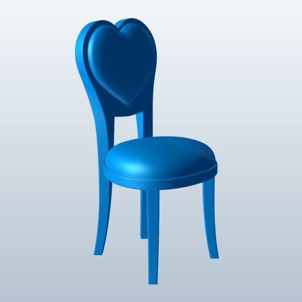 Heart Parlor Chair 3D Model Made with 123D MeshMixer