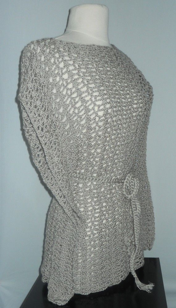 Crochet Top PatternKimono Lace TopPlus Size ClothingPDF by GuChet, $5.00