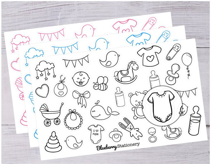 Baby stickers Planner. Newborn. Office stickers. Letter stickers. stationery. Filofax. scrapbook. Project life, Reminder. Note. de la boutique BlueberryStationery sur Etsy