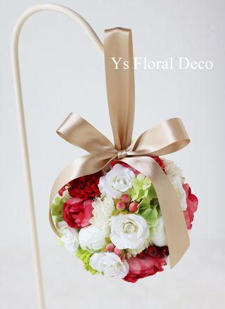 和装&洋装 ふたつの衣装に合わせるボールブーケ  アーティフィシャルフラワー ys floral deco @東京大神宮