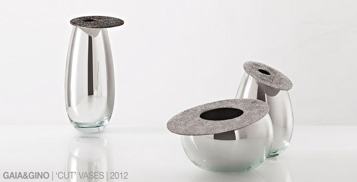 Gaia&Gino, Cut Vases by Defne Koz
