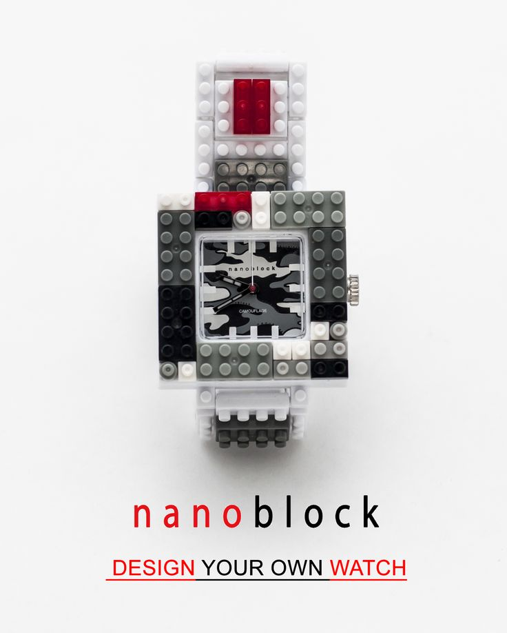 Nanoblock, the watch customizable according to your everyday's mood and outfit!