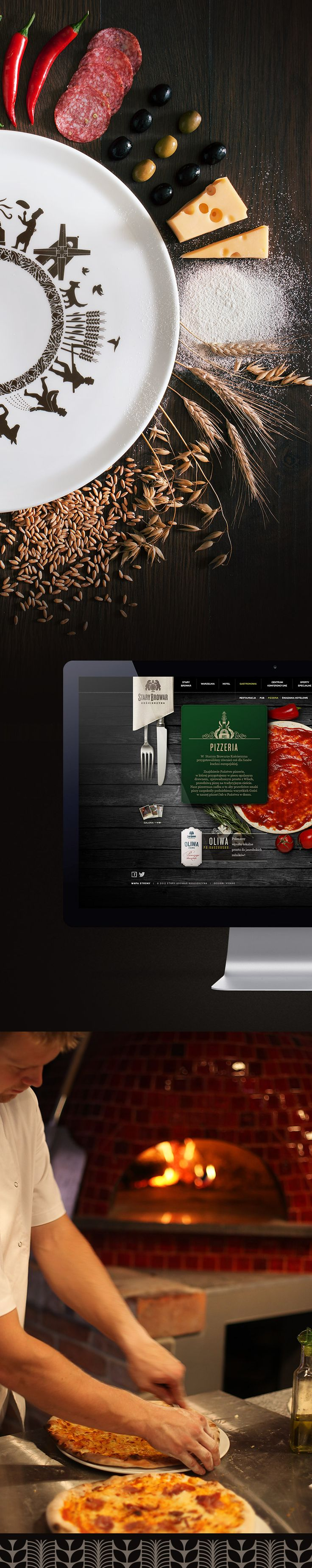 Logo, brand identity, package design, website for Pizzeria in Old Brewery