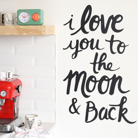 Superbalist Wall Decals - Moon & Back Wall Decal
