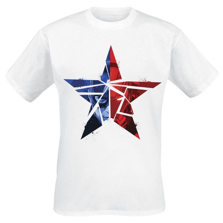 Cracked Star - T-Shirt by Captain America Civil War