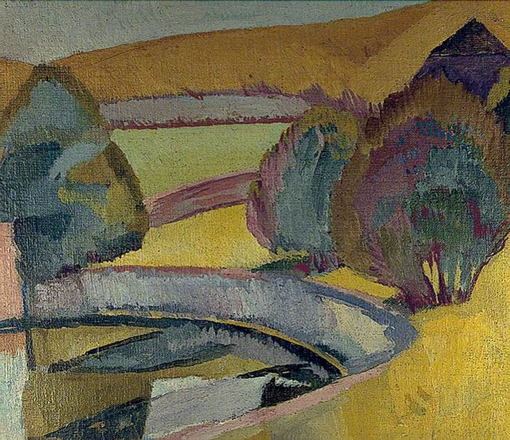 The Pond at Charleston, East Sussex by Vanessa Bell  ca.1916