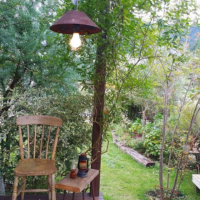 . . 最近、朝が楽しみです そのためにできるだけ早寝 早寝がかなり体にしみついてきた ここで一人ゆっくり虫や鳥の鳴き声を聞くのが毎日の楽しみです とくに今日は曇っていてまさに秋を感じられるいい朝でした #アカシアブルーブッシュ と#ツルハナナス と#シルバープリペット が人の視界を妨げてくれるのでほんとに一人の空間になれます . . …そして、仕事のアラームがなると現実に戻るのでした…(-_-;) . . 2016.10.7 #マイガーデン#ナチュラルガーデン#ガーデン#ガーデニング#花のある暮らし#花のある生活#芝生#暮らし#日々のこと#秋の庭#お庭#庭#植物#グリーン#園芸#庭作り#朝時間#garden#gardening#flowers#green#myhome#mygarden#autumngarden