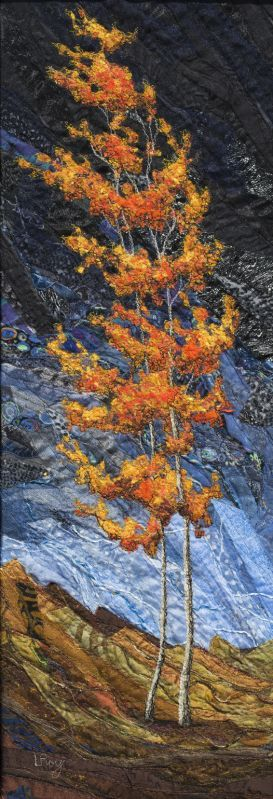 Autumn Fire #3 by Lorraine Roy #tree #art
