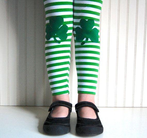 Leggings Irish Shamrock - Girls Sizes 12-18 mos, 2 / 3T, 4 / 5, 6 / 7, 8 - by The Trendy Tot on Etsy, $28.00