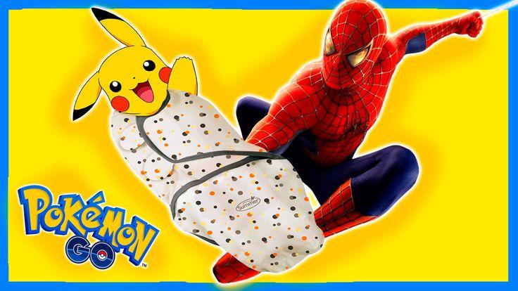 Пикачу Ребенок и Человек Паук в Реале ★ Покемон Гоу Смешной Пранк