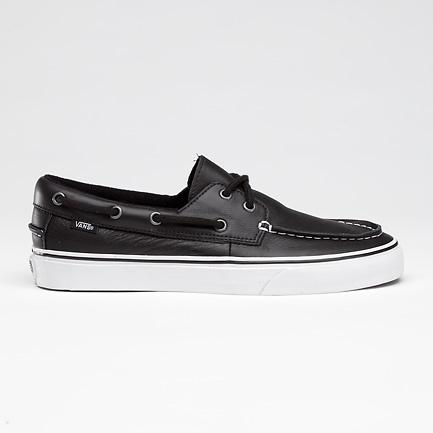 Leather Vans boat shoes