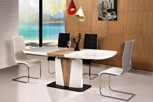 CANGAS+H668 SIGNAL Dining room furniture set. Elements of the collection available in the white / black / oak sonoma colour. Polish Signal Modern Furniture Store in London, United Kingdom #furniture #polish #signal #diningroom